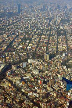 Mexico City aerial.    One of the largest cities in the world.
