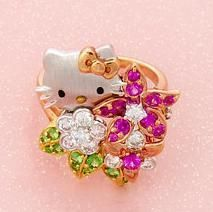 Hello Kitty Floral Ring by Kimora Lee Simmons
