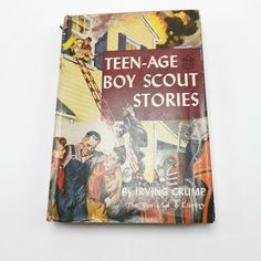 Boy Scout Teen Age Stories Irving Crump Book Grosset Dunlap 50s HC DJ Serenity Prayer, Needlepoint Kits, Boy Scouts, New Toys, Book Collection, Vintage Sewing, Dj, Teen, Boys