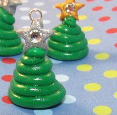 Christmas Tree Polymer Clay Charm: