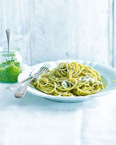 When it comes to pesto, the possibilities are endless – swap the classic recipe for one using walnuts, rocket and goat's cheese and serve with spaghetti for a budget friendly midweek meal.
