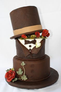 Groom's cake, but perhaps with a fez, bowtie and tweed jacket :)