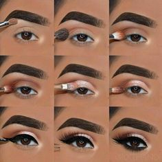 The Ultimate Full-Face Drugstore Makeup Guide For Beauty Addicts - Natural Makeup Tutorial Makeup Tutorial Step By Step, Makeup Tutorial For Beginners, Eyeshadow Step By Step, Prom Makeup Tutorial, Eye Tutorial, Easy Eyeshadow Tutorial, Make Up Ideas Step By Step, Brown Eye Makeup Tutorial, Step By Step Contouring