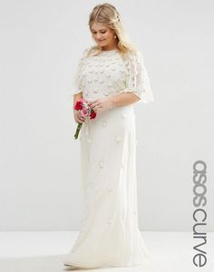 Stunning wedding dress from ASOS. More finds, hints and tips in the curvy bride's guide to wedding dress shopping