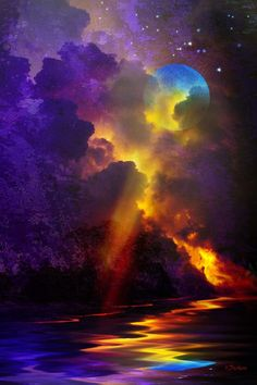 River of Light Blue Flower Wallpaper, Pix Art, Planets Wallpaper, Surreal Art, Love Art, Aesthetic Wallpapers, The Dreamers, Abstract Art, Sky
