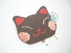 09 06 18 - May Nee - Webové albumy programu Picasa Crochet Pouch, Crochet Diy, Tunisian Crochet, Crochet Purses, Crochet Crafts, Crochet Cat Pattern, Crochet Patterns, Cat Wallet, Crochet Cushions