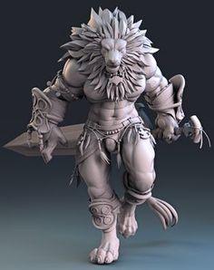 Lion Fighter, Manuel De Jorge on ArtStation at https://www.artstation.com/artwork/3x90E?utm_campaign=digest&utm_medium=email&utm_source=email_digest_mailer
