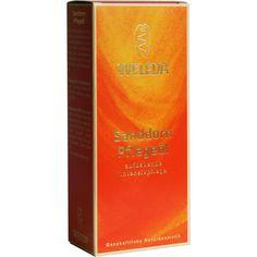 WELEDA Sanddorn Pflegeöl:   Packungsinhalt: 100 ml Öl PZN: 01316076 Hersteller: WELEDA AG Preis: 9,59 EUR inkl. 19 % MwSt. zzgl.…