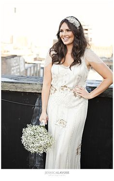 Candice Huffine in her wedding gown. *swoon*