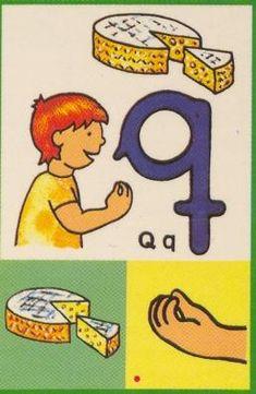 Letra q. Queso.
