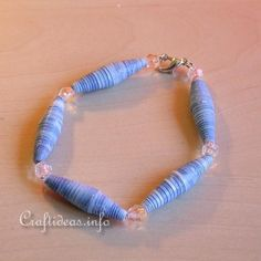Paper Craft for Kids - Paper Beads Bracelet - Jewelry Craft