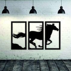Metal Horse Decor - Metal Horse Art -New Home Gift - House Gift - Home Decor - Metal Wall Art - Home Art - Wall Decoration Living Room Metal Wall Art Decor, Modern Wall Decor, Wooden Wall Art, Tree Wall Art, House Gifts, New Home Gifts, Metal Walls, Paint Metal, Laser Art