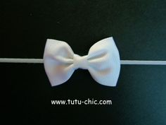 White Bow Headband: baby headbands, newborn headband, white headbands, infant headband, toddler headband, childrens headband