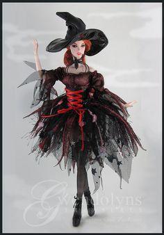 Más tamaños | WITCHY LOLITA | Flickr: ¡Intercambio de fotos! Diy Doll Miniatures, Halloween Miniatures, Barbie Theme, Barbie Party, Barbie Halloween, Halloween Fashion, Barbie Clothes, Barbie Gowns, Barbie Dress