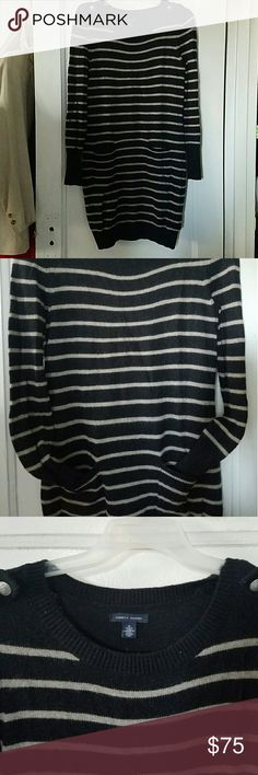 Wool Striped Tommy Hilfiger Dress Women's tommy hilfiger 100% lambs wool long sleeve sweater dress, excellent condition, NEVER WORN, no fading, stains or holes, see pics. Tommy Hilfiger Dresses Long Sleeve