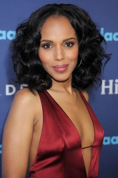 The 10 most popular haircuts for spring 2017: Kerry Washington's voluminous bob is perfect for curly-haired women.