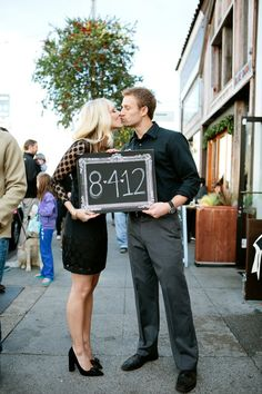 cute save the date pic.  i want to do something like this but at the beach with a surf board ;-)