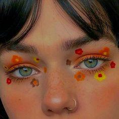 Indie Makeup, Edgy Makeup, Makeup Eye Looks, Eye Makeup Art, Cute Makeup, Pretty Makeup, Skin Makeup, Makeup Inspo, Makeup Inspiration