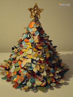C�mo hacer un �rbol de Navidad con papel, por Tortuga Pecosa
