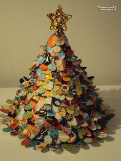 Cómo hacer un árbol de Navidad con papel, por Tortuga Pecosa