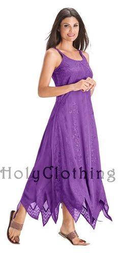 Purple Fuchsia Lily Floral Chiffon Bohemian Long Summer Sun Dress