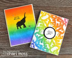 June 2017 My Monthly Hero Kit cards by Chari Moss