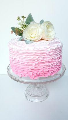 Ivory Rose Cake Topper- Paper Rose, Wedding Paper Flower, Bridal Shower Cake Topper, Baby Shower