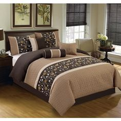 Shop for Chinensis Brown Embrodiery 7-piece Comforter Set. Get free shipping at Overstock.com - Your Online Fashion Bedding Outlet Store! Get 5% in rewards with Club O!