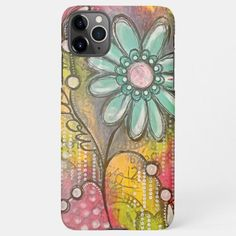 Cute Colorful Flowers iPhone Case Iphone 8 Plus, Cases Iphone 6, Iphone 11, Apple Iphone, Sparkle, Samsung, Cute Cases, Swirl Pattern, Galaxy