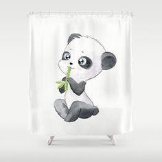 Pixel Panda Bear Shower Curtain | Panda Bear Shower Curtain | Pinterest |  Panda