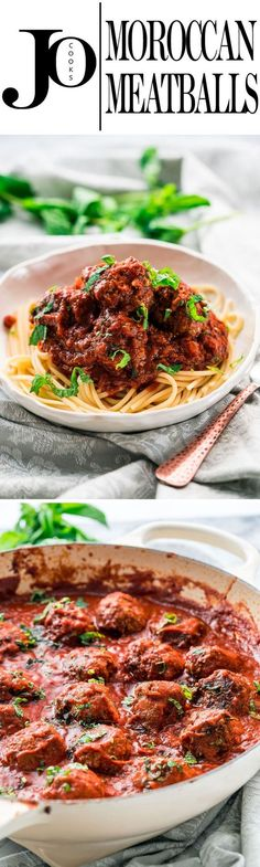 These Moroccan meatballs are extra juicy and super delicious with great Moroccan inspired flavors, in a rich and wonderful tomato sauce that will have everyone begging for seconds.