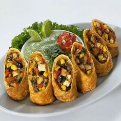 Southwestern Egg Rolls with Avacado Dipping Sauce photo