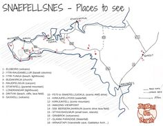 Visiting the Snaefellsnes peninsula - map and places to see