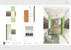 Dissertation - Interior Design Course - Bathroom - Part of Guesthouse project by Anna Kucia