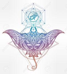 60097285-Hand-drawn-vector-cramp-fish-in-Maori-tribal-ornament-decor-Stingray-ethnic-background-tattoo-art-di-Stock-Vector.jpg (1181×1300)