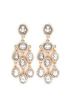 Danika Chandelier Earrings in Gold