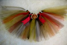 So Cute Turkey Time Girls Size 4/5 Tutu  by cd1ofakind on Etsy, $22.00