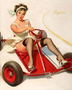 c432f3f287008e8e7336d5f692de052a--go-kart-vintage-art.jpg (736×922)