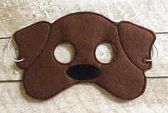 Children's Dog Doggie Puppy Felt Mask by lilliannamarie on Etsy Dog Costumes For Kids, Dog Mask, Felt Mask, Little Red Hen, Animal Masks, Dogs And Kids, Dress Up Costumes, Fun Crafts, Puppies