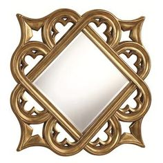 901794 Accent Mirrors Gold Accent Mirror 40 x 40 - DISCO