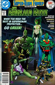 Super-Team Family: The Lost Issues!: The Emerald Elite