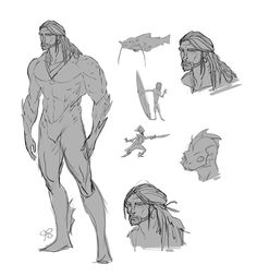 JLA - Concept Characters Design by Franco Spagnolo, via Behance