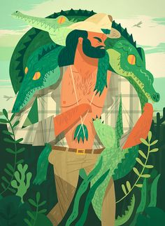 Skinner - Owen Davey #Illustration #crocodile