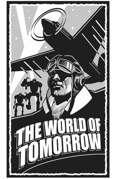 Sky Captain and The World of Tomorrow - Logo by Kevin Conran a professional illustrator and comic book artist.