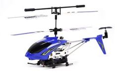 "YIBOO UJ414 Mini Metal 3 Channel HELICAM 8"" RC Helicopter - Blue: $34.99"