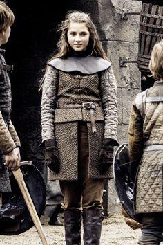 Lyanna Stark from Game of Thrones Season 6 Episode 2 'Home' - mini-me :)
