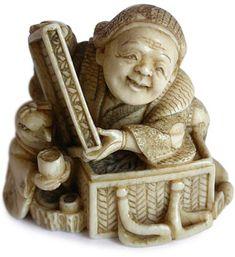 Japanese Ivory Netsuke ~Circa: 19th Century