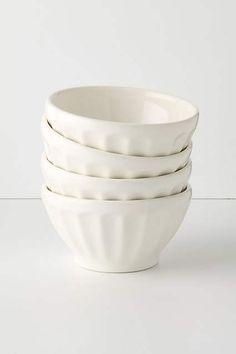 Latte Bowls in parchment (white) or squid (dark gray)
