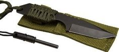 Survivor Outdoor Fixed Blade Knife with Fire Starter
