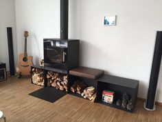 Multi fuel stove - ideal for small places. RAIS Q-Tee 2 is suitable for coal-firing because the combustion chamber is reinforced and has extra air supply. Multi Fuel Stove, Air Supply, Wood Burning Fires, Small Places, Woodburning, Stoves, Scandinavian Design, Traditional, Living Room